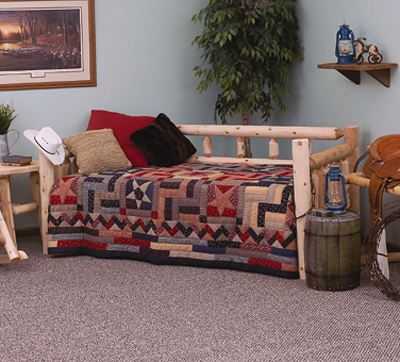 Trundle Frame  on Lakeland Mills Traditional Lodge Day Bed From Mercantila Com
