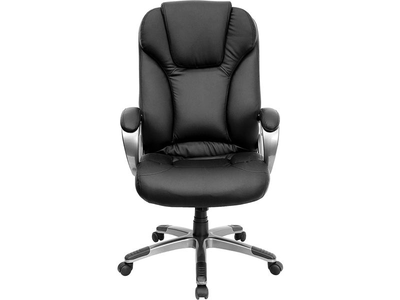 Flash Furniture Black Leather High Back Executive Office Chair With