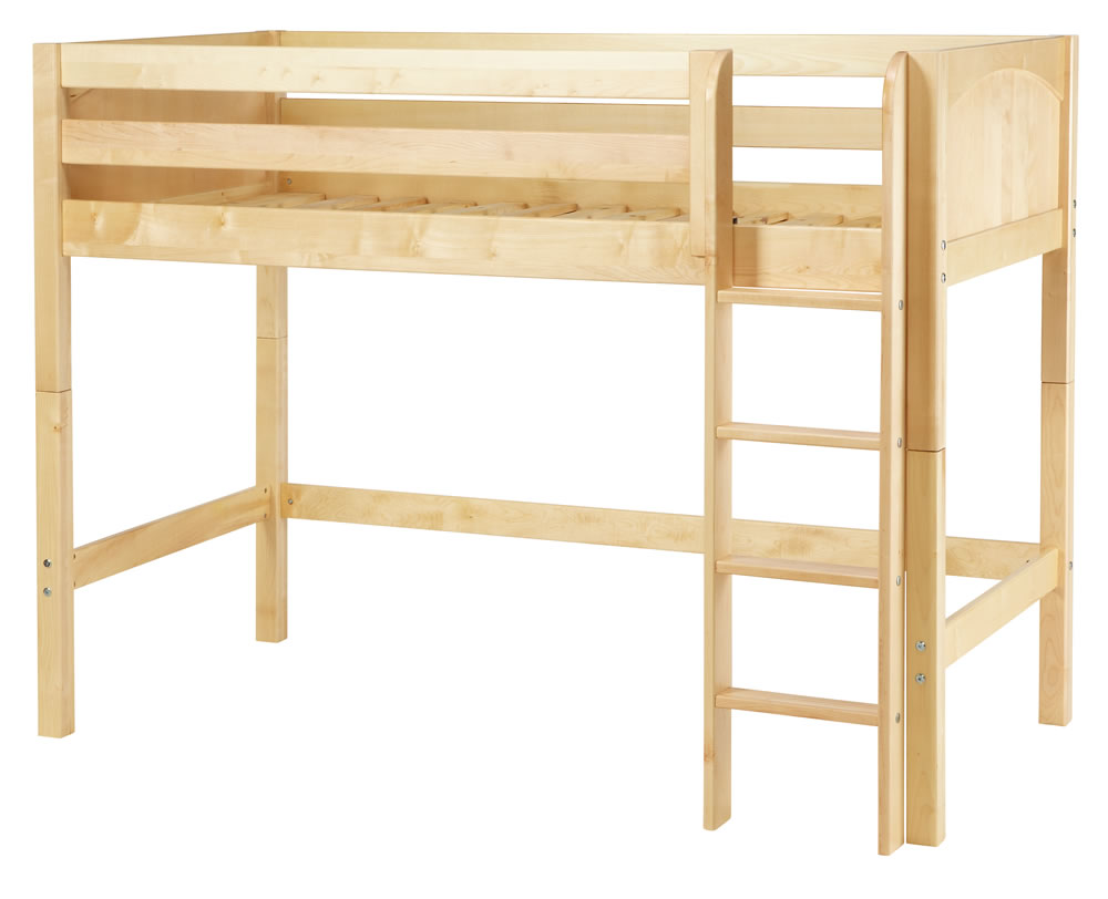 ... -Full-Size-Mid-High-Loft-Bed-w.-Straight-Ladder-Loft-Bed_2_0