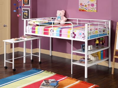 Futon Beds  Storage on Twin Loft Bed With Storage And Desk From The Bunk Bed Superstore