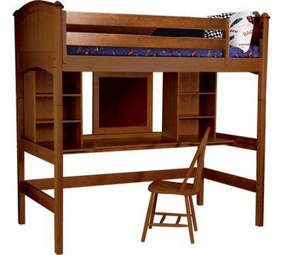 Loft Beds Furniture on Furniture Cooley Twin Study Loft Bed   4 Finish Options  From The Loft