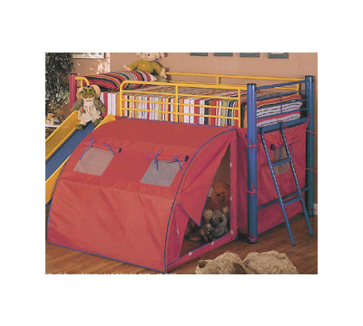 Bunk Beds  Kids  Slide on Twin Loft Bed With Slide And Tent From The Kids Bed Superstore