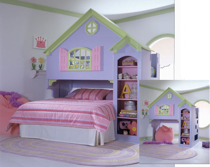 bunk beds on Loft Bed   Discovery Dollhouse Loft Bed From The Loft Bed Superstore