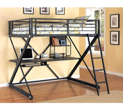 Queen Size Bunk  on On Powell Z Bedroom Full Loft Bed From The Bunk Bed Superstore