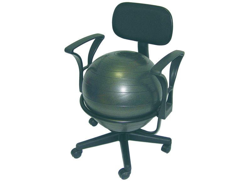 Stylish home design ideas exercise ball office chair - Replacing office chair with exercise ball ...