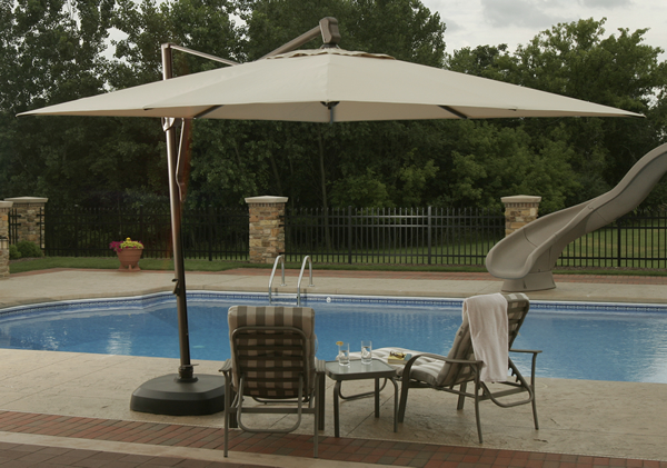 10' Square Offset Umbrella - Improvements Catalog