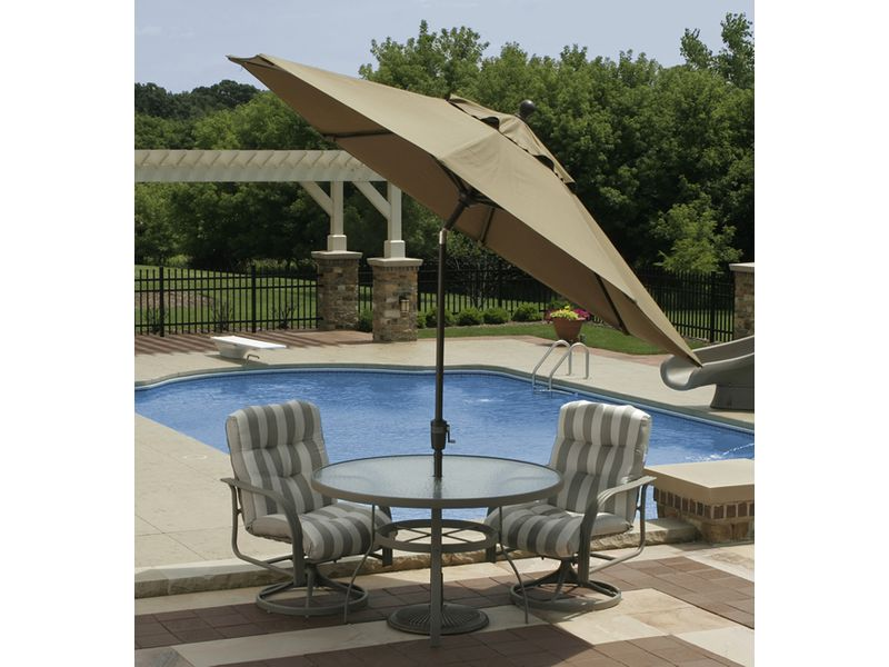 Coral Coast 9-ft. Designer Tilt Patio Umbrella - Patio Umbrellas