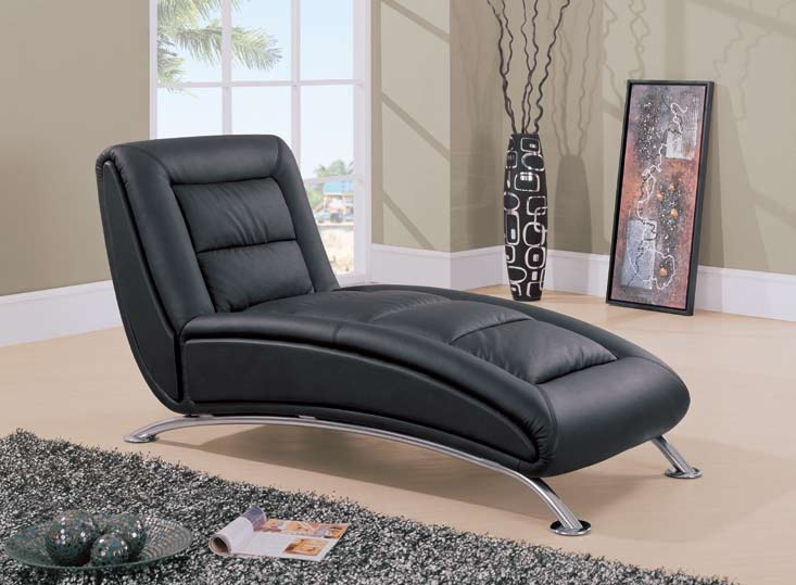 Leather chaise lounge chairs contemporary living room ideas for Chaise leather lounges