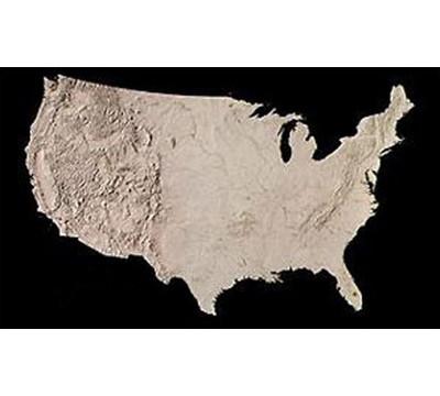 Us Map Landform