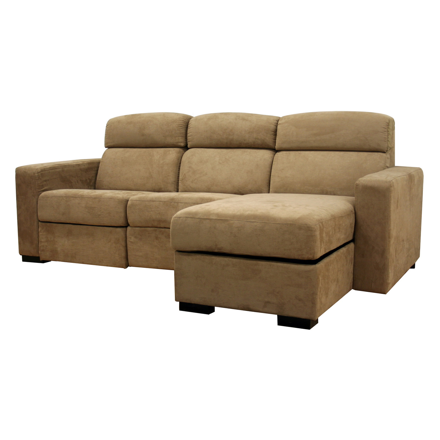 Sectional sofa with chaise recliner and sleeper for 2 arm pressback chaise