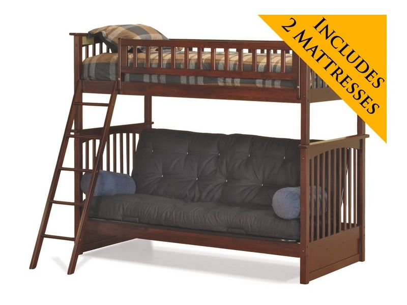 Futon bunk bed sale image search results for Twin bed with mattress included
