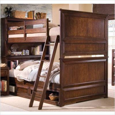 Bolton furniture mission twin over twin standard bunk bed for Target loft bed