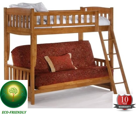 night and day furniture cherry cinnamon twin bunk futon bunk bed 0 0 More information for the Walker Edison Sunrise Twin/Futon Bunk Bed
