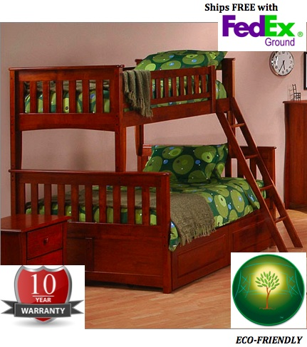 Loft Beds Furniture on Furniture Ginger Twin Over Full Bunk Bed From The Loft Bed Superstore
