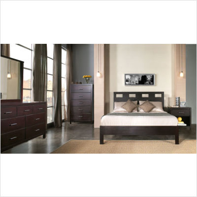 Queen Platform   on Bed Set   Bed  Nightstand  Dresser  And Mirror From The Platform Bed