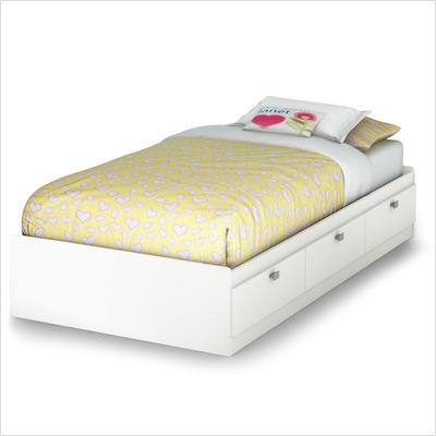 Twin  Sale Free Shipping on White Sparkling Contemporary Twin Mates Bed  39   From Mercantila Com