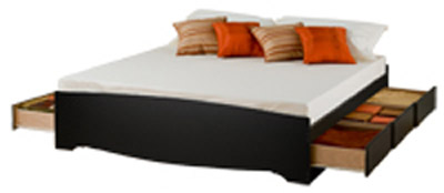 Storage on Bed   Prepac King Platform Storage Bed With Drawer From The Platform