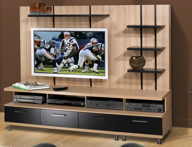 Flat Screen On Nexera Eclipse 57 Inch Tv Console For Flat Screen Tvs