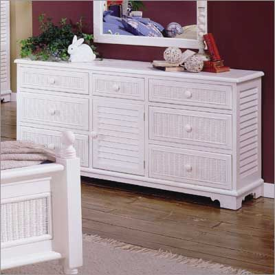 Wicker Warehouse on South Sea Rattan Crossroad Triple Dresser In Antique Finish From The