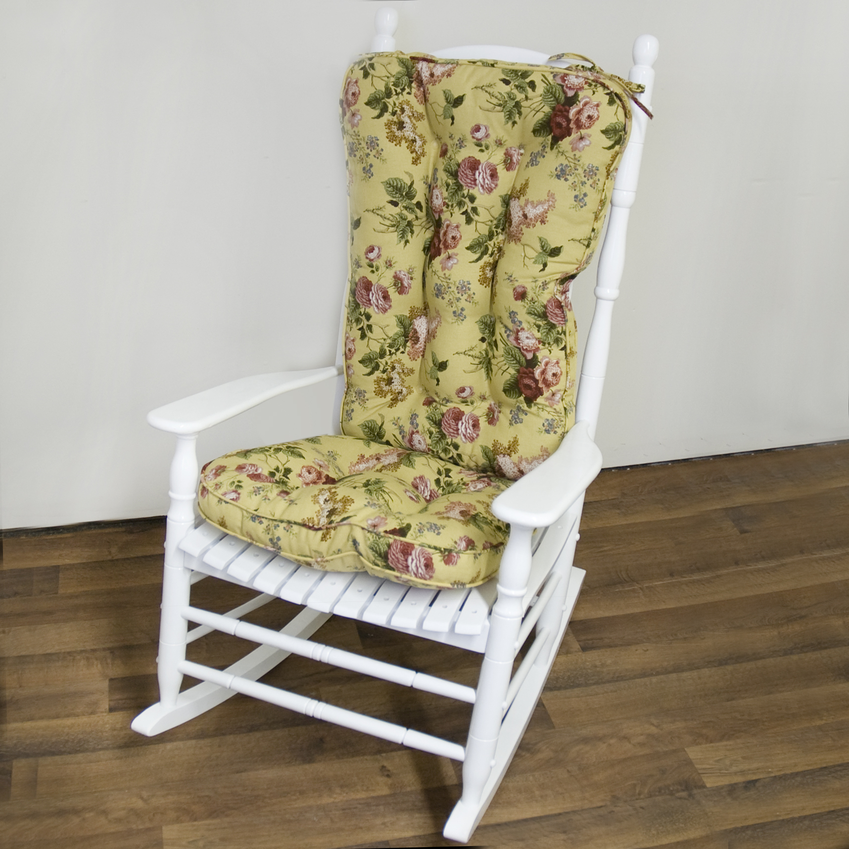 Rocking Chair Cushion Pattern on Wooden Clothespin Rocking Chair
