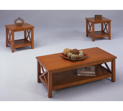 Bernards Furniture Jaguar Cocktail Table with 2 End Tables.