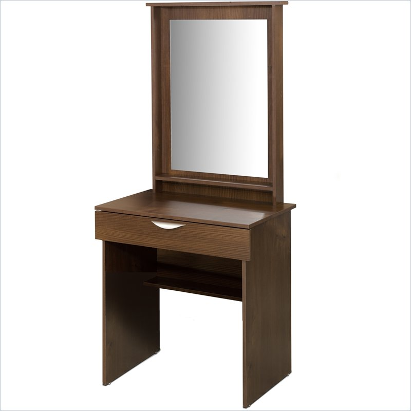 mirrored makeup vanity. style makeup vanity solid