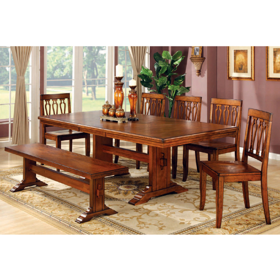 ... Tuscany Trestle Dining Table with Butterfly Leaf from The Dining Table