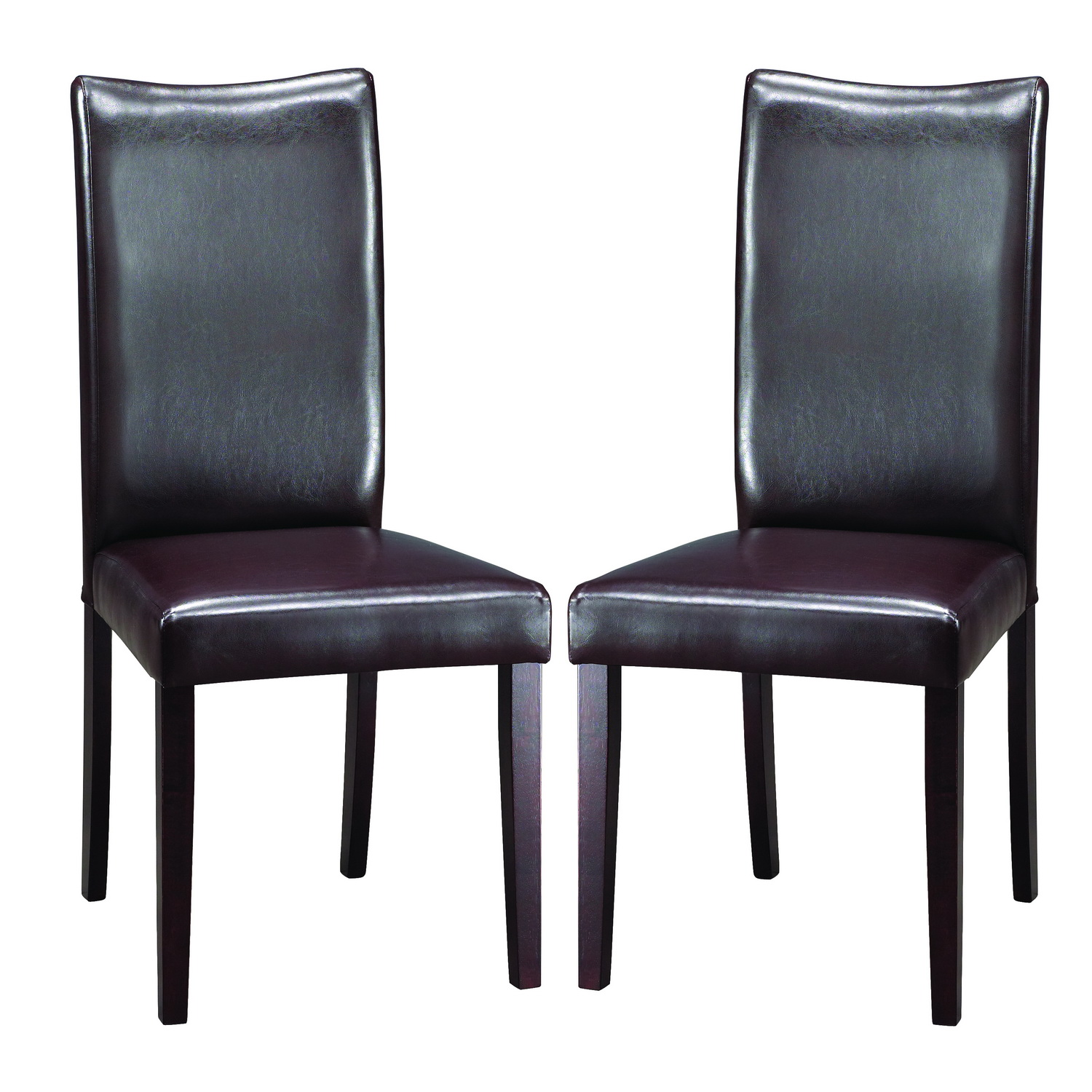 Beautiful light blue leather dining chairs chair pads for Leather parsons dining chair