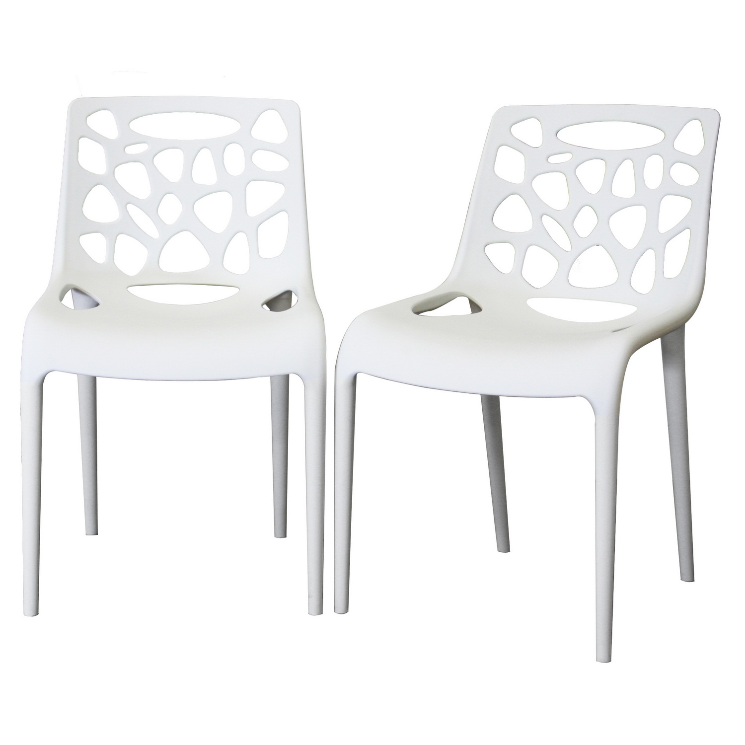 White modern dining chair chair pads cushions for White plastic dining chair