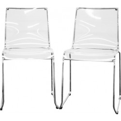 transparent clear acrylic dining chair set of 2 dining chair 0