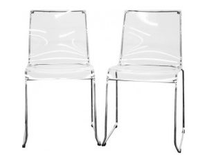 clear acrylic dining chair set of 2 dining chair 0