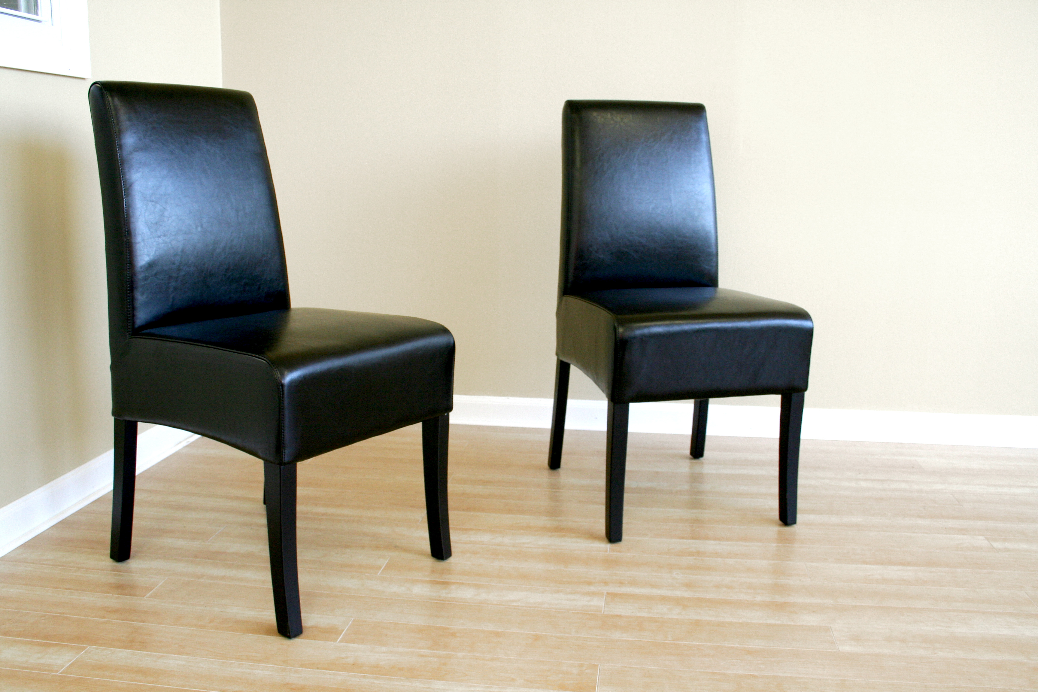 Dining Room Chair Cushions Leather Black Leather Dining