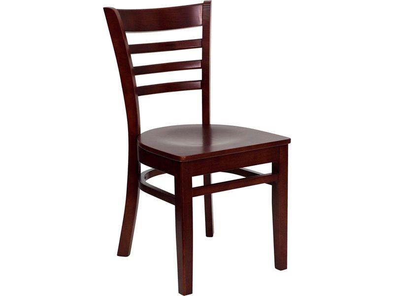 BLACK LADDER BACK DINING CHAIR Chair Pads Cushions