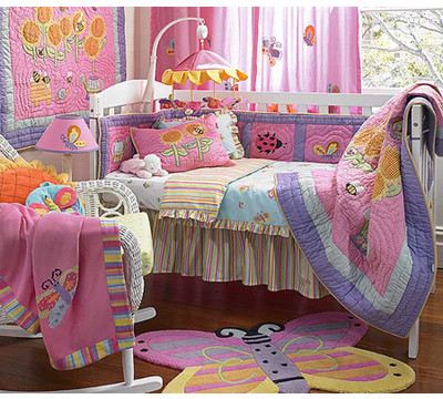 Asian Comforter Sets on Garden 4 Piece Crib Bedding Set Fast Free Fedex Garden Asian Brocade