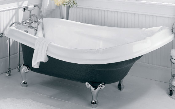 Removing paint from bathtub bathroom design - Painting clawfoot tub exterior paint ...
