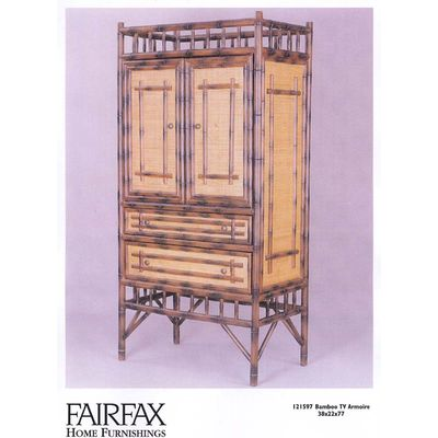Home Furnishing Stores on The Bamboo Tv Armoire From Fairfax Home Furnishings Is Exotic In Style
