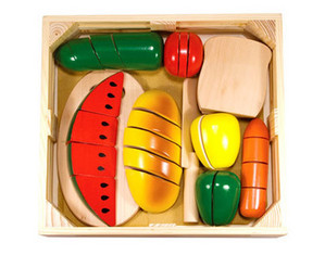 Melissa and Doug Cutting Food Box Play Set