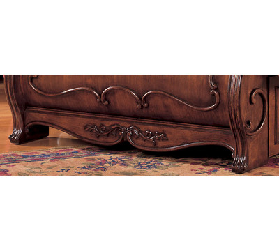 Canopy Sleigh Bed, Mahogany Finish, Queen - ShopWiki