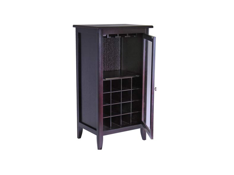 Wine cabinet with glass doors cabinet storage