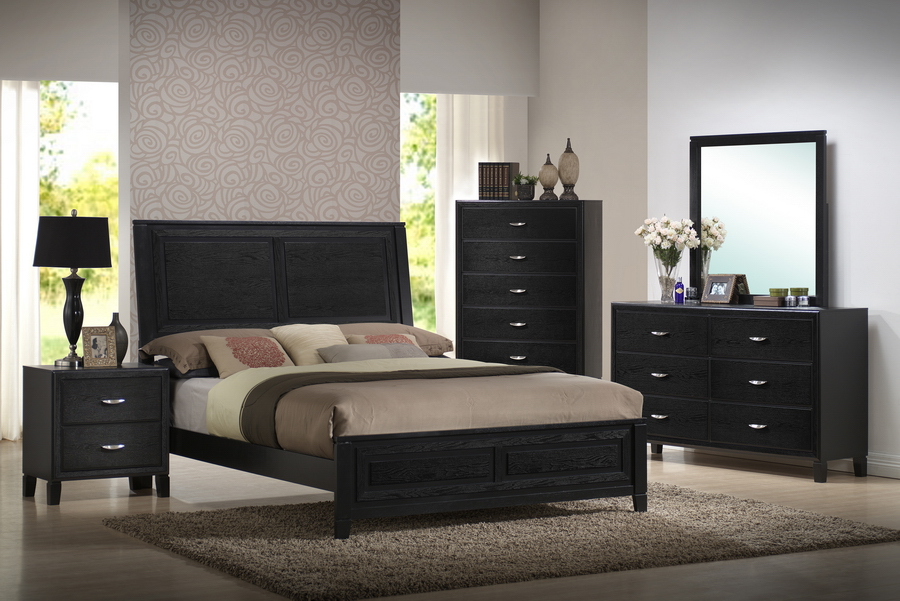 alfa img showing black wood queen beds