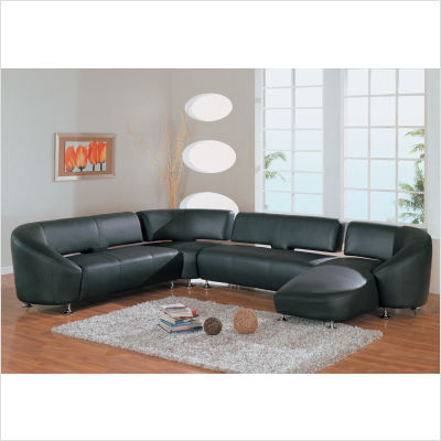 Sectional on Global Furniture Denise Sectional In Black From The Sofa Superstore