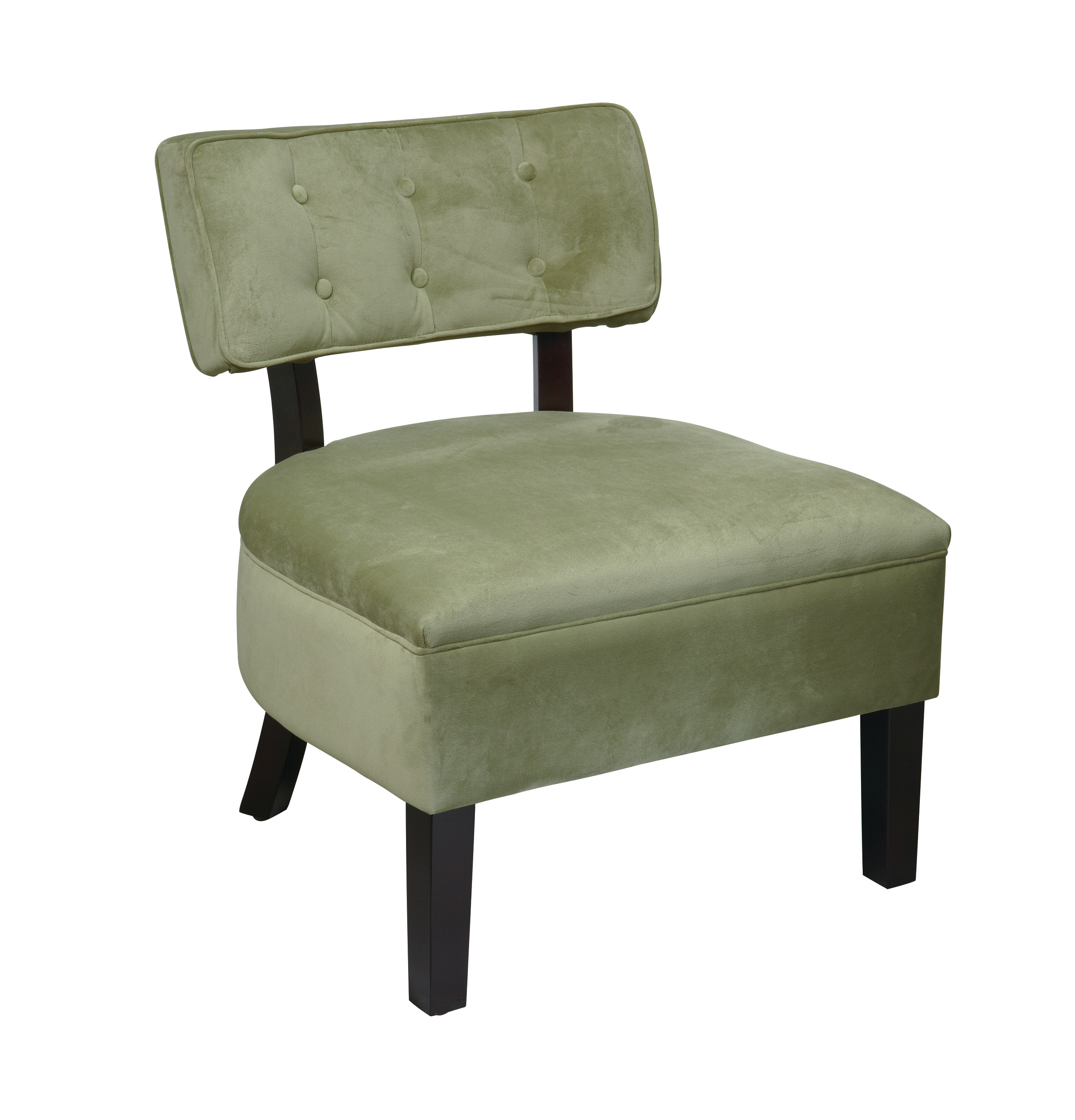 Green Accent Chair on teal swivel chair