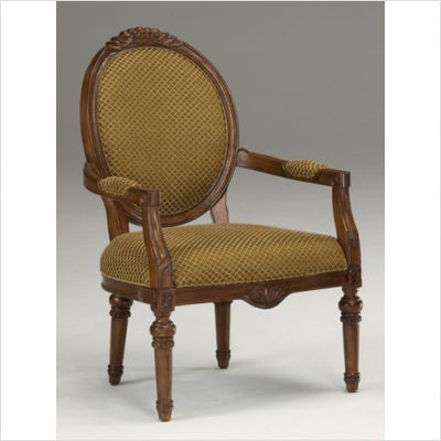 Furniture French On Bernards Furniture French Provincial Chair Pecan With  Gold Fabric