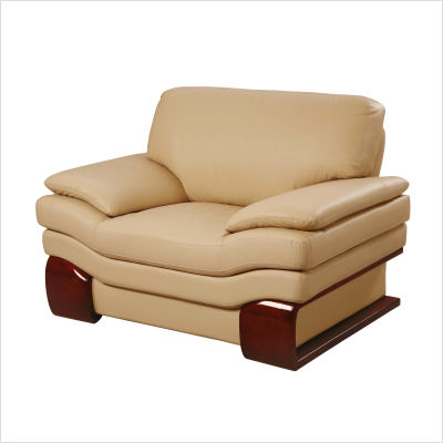 Accent Chairs on Global Furniture Ignatius Leather Chair In Beige From The Sofa