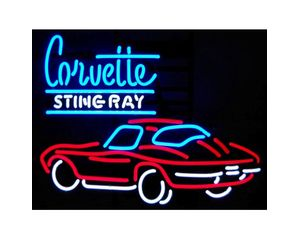 Corvette Stingray Neon Sign on Neonetics Corvette Stingray Neon Sign From Mercantila Com