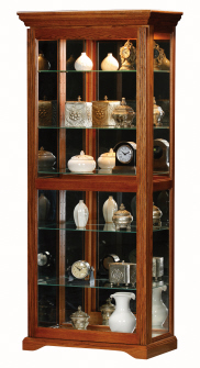 Tall Doors on Eagle Oak Ridge Tall Sliding Door Curio From The Curio Cabinet