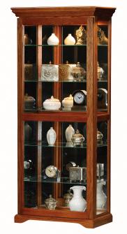 Tall Doors on Eagle Oak Ridge Tall Sliding Door Curio From The Curio Cabinet