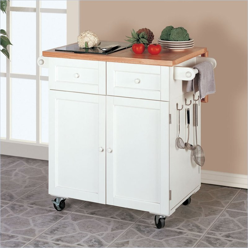 Kitchen Cart Island With Granite Top And Antique Oak Base