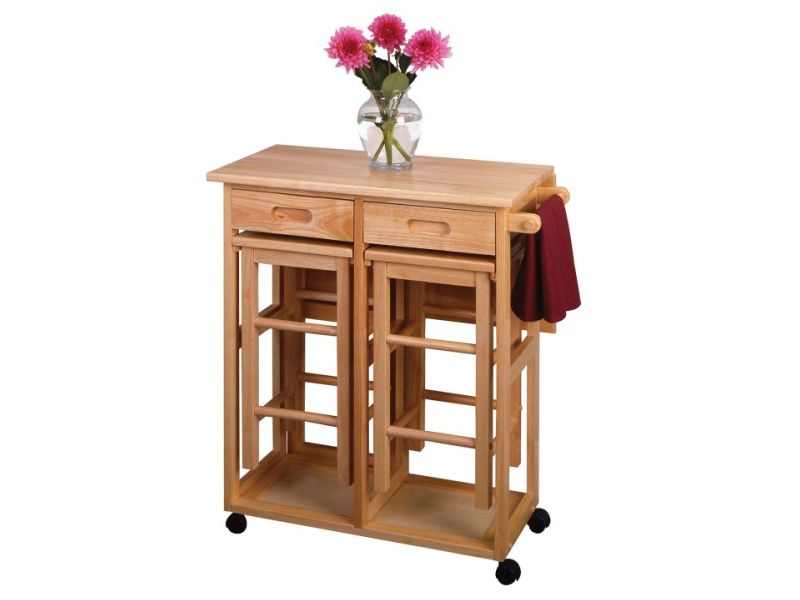 Saver square drop leaf kitchen island table with stools kitchen