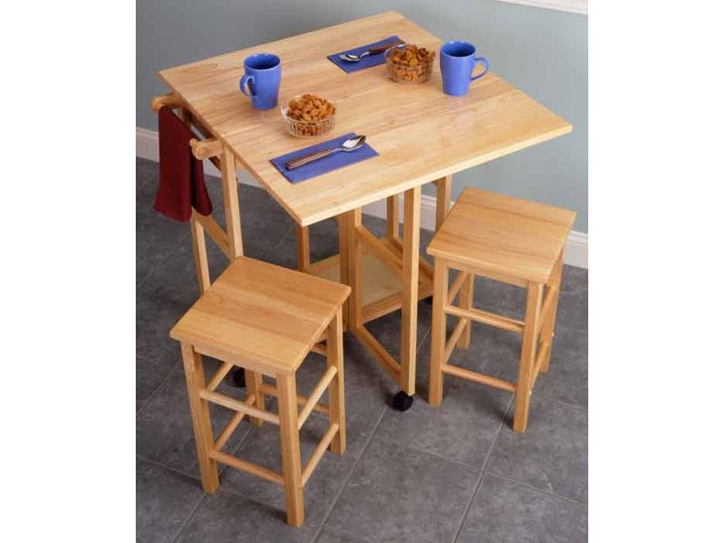 Leaf kitchen island table with 2 stools kitchen island 4 800x600 jpg